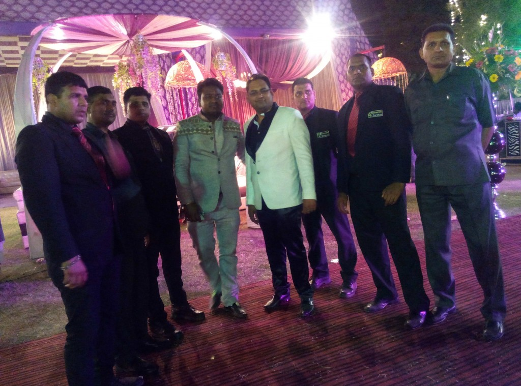 Bouncers providing Security at Marriage event in delhi