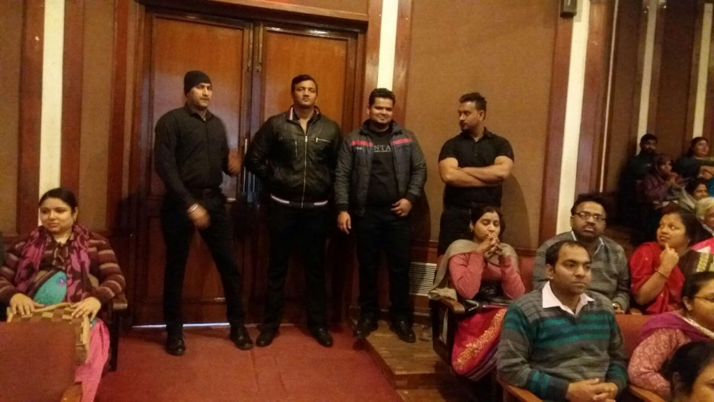 Bouncers for duty in South Delhi event at auditorium