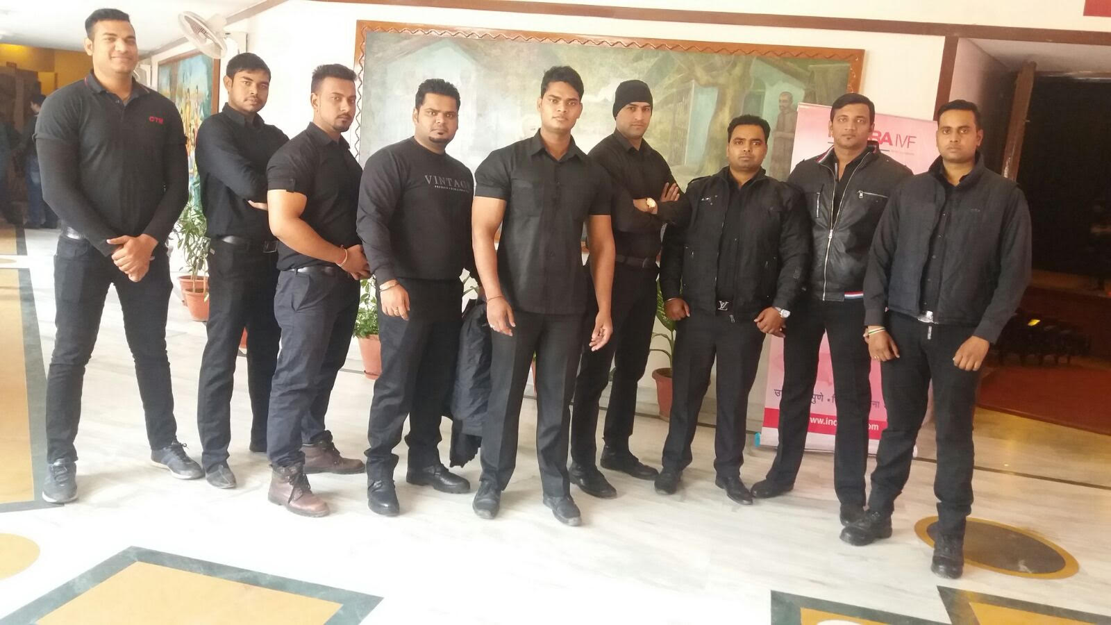Bouncers Security At A Event Held In Iskcon Auditorium