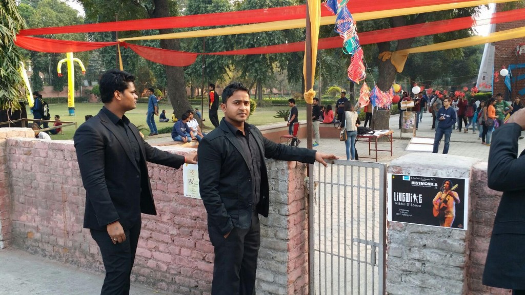 Bodyguards for Event in North Campus SRCC college
