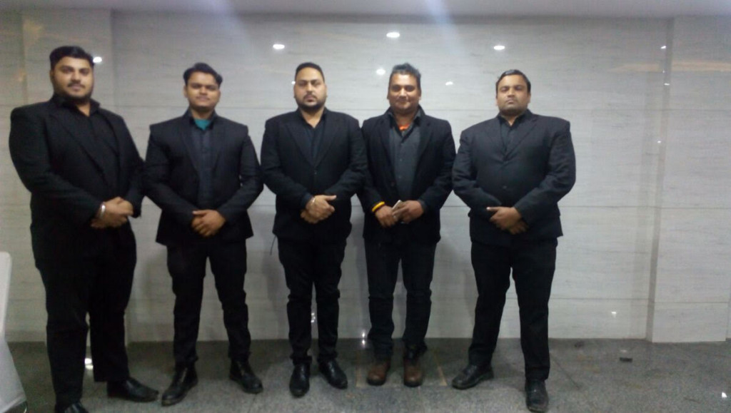 Bodyguard hire team